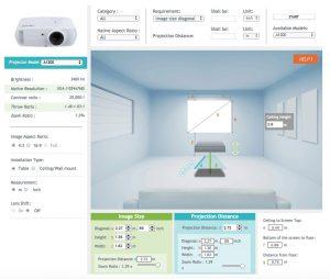 Acer Programm zur Projektionsberechnung