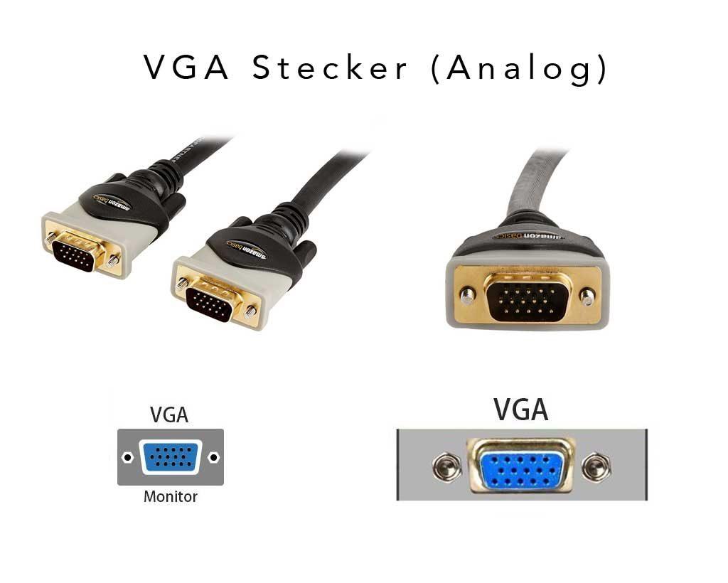 Beispiele für VGA Stecker